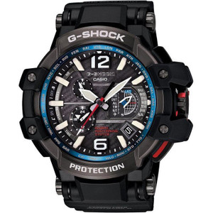 G-Shock Gravitymaster GPS Hybrid Radio Controlled Solar Powered Carbon Resin Strap Black Automatic Aviation Watch GPW-1000-1AER