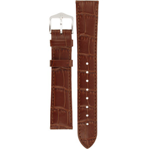 Hirsch Louisianalook Replacement Watch Strap Golden Brown Alligator Embossed Leather 18mm