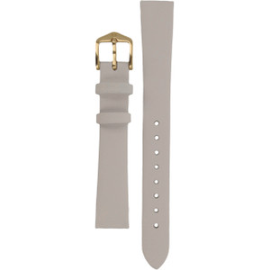 Hirsch Diamond Calf Replacement Watch Strap White Genuine Leather 14mm