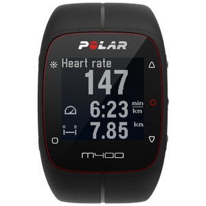 Polar M400 GPS Running Watch Black 90051341 with Heart Rate Sensor