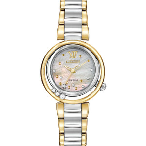Citizen Ladies Sunrise Diamond Mother Of Pearl Dial Watch EM0324-58D