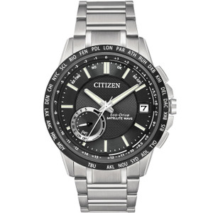 Citizen Eco-Drive Mens Satellite Wave-World Time GPS Watch CC3005-85E