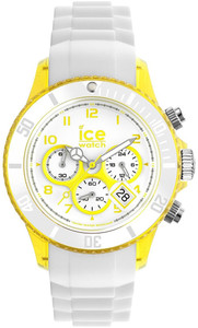 Ice-Watch Chronograph Yellow White Chrono Party Watch Unisex CH.WYW.U.S
