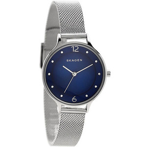 Skagen Ladies Anita Blue Dial Silver Mesh Bracelet Watch SKW2307