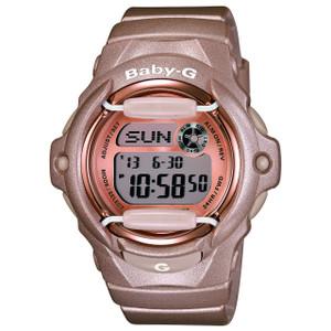 Baby-G Ladies Rose Gold World Time Watch BG-169G-4ER