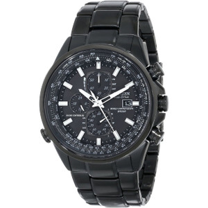 Citizen Eco-Drive Mens Radio Controlled AT Black Watch AT8025-51E