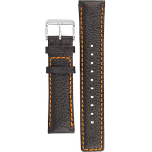 Boss Orange Replacement Watch Strap Black Leather 22mm