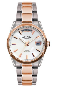 Rotary Havana Mens Rose Gold Two Tone Bracelet Watch GB02662/06