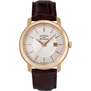 Rotary Les Originales Gents Rose Gold Case Watch Swiss Made GS90093/06