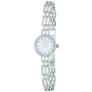 Rotary Ladies Silver Watch With Stone Set Bezel LB20225/02