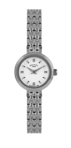 Rotary Ladies Silver Watch With Slim Small Dial LB02086/02