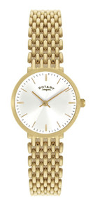Rotary Ladies Gold Bracelet Generalist White Dial Watch LB00900/01