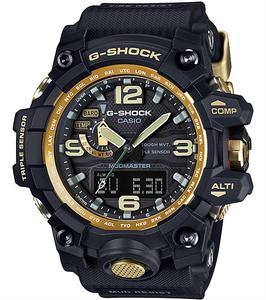 G-Shock Mudmaster Premium Triple Sensor Mud Resistant Gold Watch GWG-1000GB-1AER