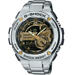 G-Shock Metal Stainless Steel Gold Radio Controlled Solar Watch GST-210D-9AER