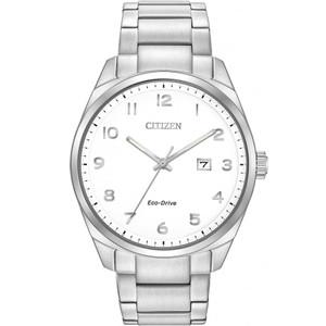 Citizen Mens Eco-Drive White Dial Gold Bracelet Watch BM7320-87B