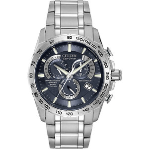 Citizen Radio Controlled Titanium Eco-Drive Mens Watch AT4011-57L