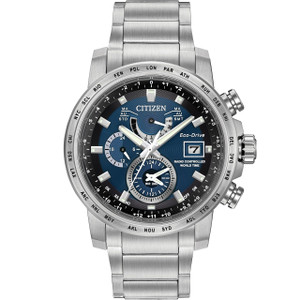 Citizen Radio Controlled World Time Eco-Drive Mens Watch AT9070-51L