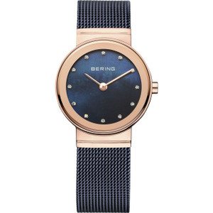 Bering Ladies Classic Rose Gold Watch With Crystal Dial 10126-367
