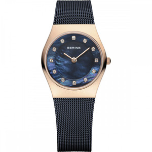 Bering Classic Ladies Crystal Dial Rose Gold Watch 11927-367