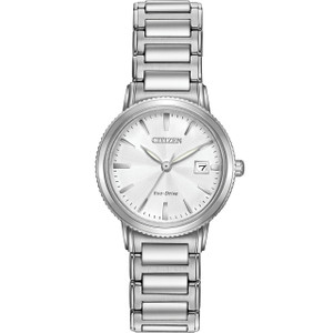 Citizen Ladies Eco-Drive Silhouette Eco-Drive Silver Bracelet Watch EW2370-57A