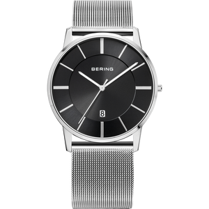 Bering Classic Black Dial Silver Stainless Steel Watch 13139-002