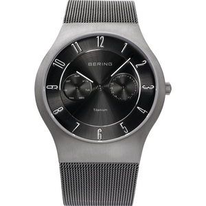Bering Classic Black Dial Gunmetal Finish Titanium Watch 11939-077