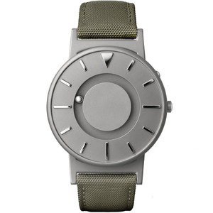 Eone Bradley Braille Tactile Watch For Blind Green Canvas BR-C-GREEN
