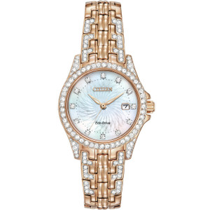 Citizen Silhouette Swarovski Crystal Ladies Rose Gold Watch EW1228-53D