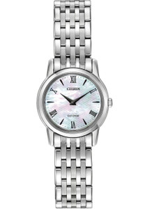 Citizen Eco-Drive Ladies Stiletto Mother of Pearl Watch EG3040-50D