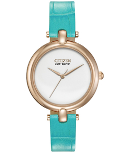 Citizen Eco-Drive Ladies Silhouette Turquoise Watch EM0253-20A
