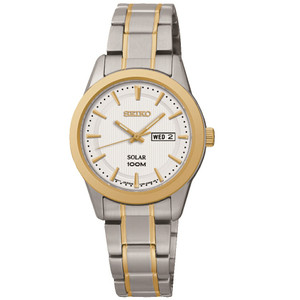 Seiko Solar Powered Ladies Day Date Display Watch SUT162P1