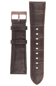 Storm Genuine Replacement Watch Strap Leather For Dualon Brown With Pins