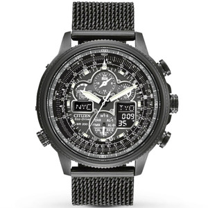 Citizen Navihawk Black Radio Controlled Eco-Drive Watch JY8037-50E