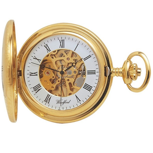 Woodford 17 Jewel Skeleton Half Hunter Pocket Watch With Free Engraving 1021
