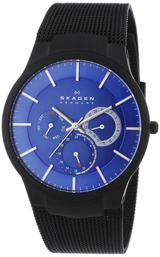 Skagen Mens Titanium Multifunction Blue Watch 809XLTBN
