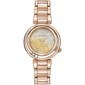 Citizen Ladies L Sunrise Diamond Eco Drive Watch EM0323-51N