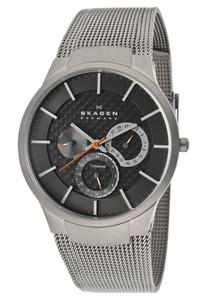 Skagen Men's Titanium Multifunction Grey Watch 809XLTTM