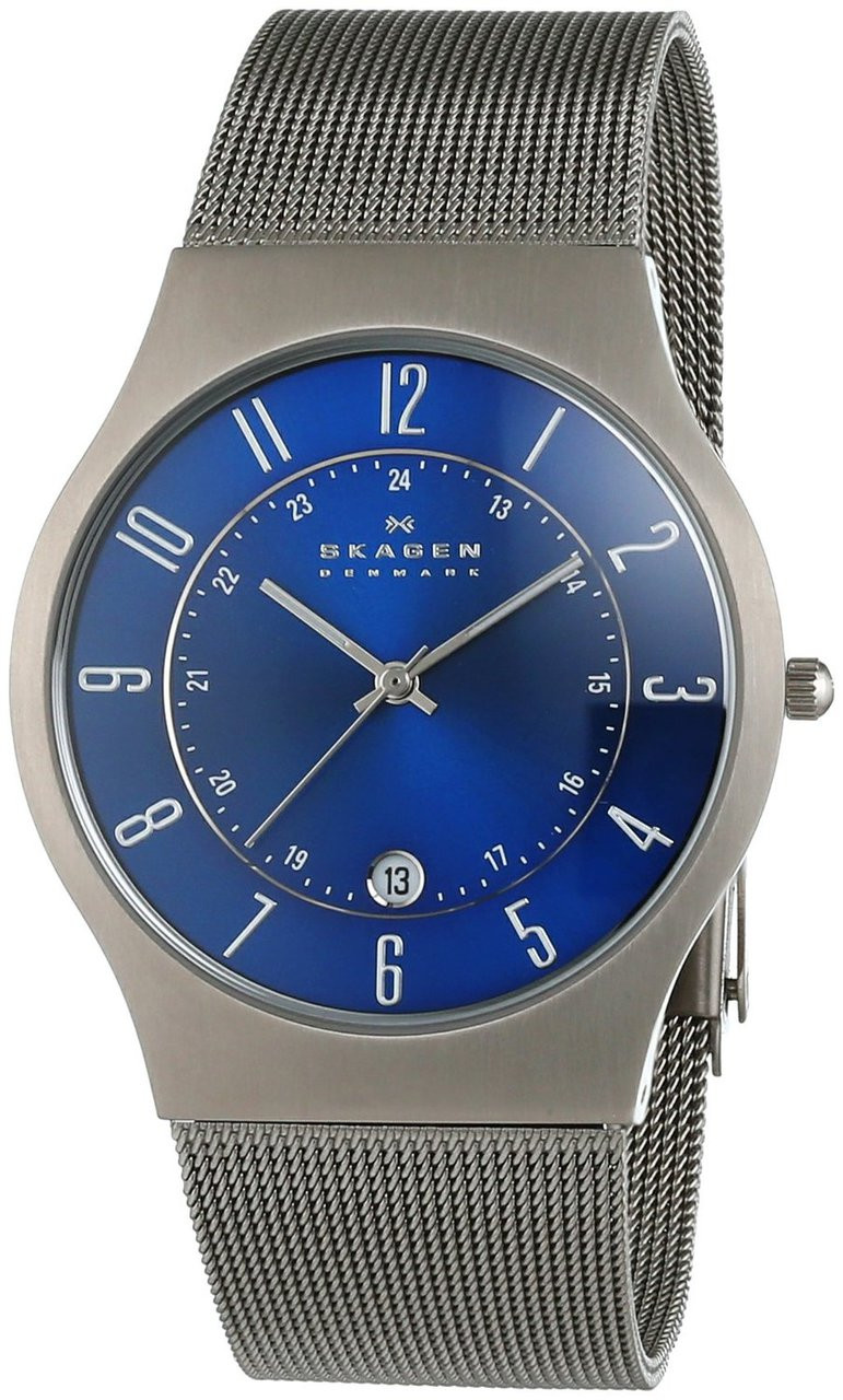 Product Review - Skagen Gents Titanium Blue Dial Watch 233XLTTN