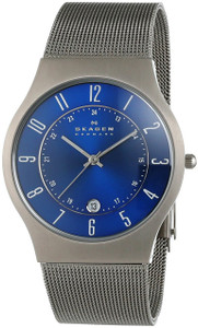 Skagen Gents Titanium Blue Dial Watch 233XLTTN