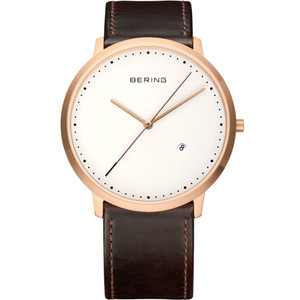 Bering Mens Classic Leather Watch 11139-564