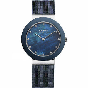 Bering Ladies Blue Ceramic Watch 11435-387