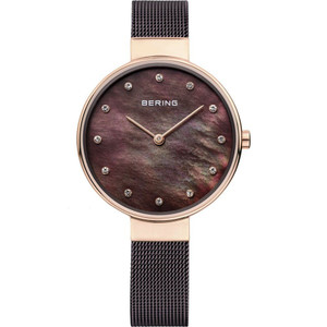 Bering Ladies Classic Mother Of Pearl Crystal Watch 12034-265