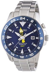 Seiko Mens Sportura Kinetic GMT Watch SUN017P1