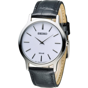 Seiko Mens Solar Powered Classic Minimalist Watch SUP873P1