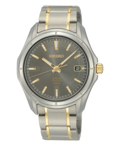 Seiko Mens Solar Titanium Watch SNE143P1