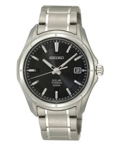 Seiko Mens Solar Titanium Watch SNE141P1