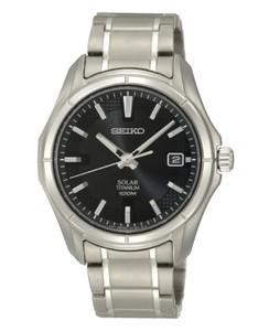Seiko Mens Solar Titanium Watch SNE141P1
