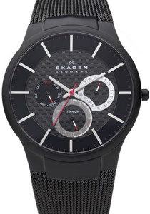 Skagen Men's Titanium Multifunction Black Watch 809XLTBB