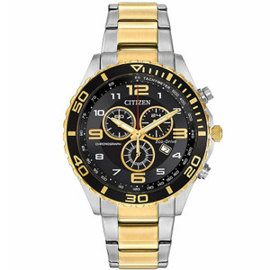 Citizen Mens EcoDrive Tachymeter Watch AT2124-51E