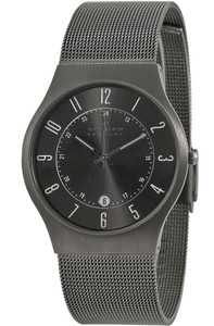 Skagen Gents Titanium Watch Grey 233XLTTM